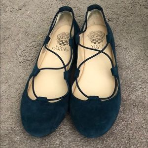 Barely worn Vince Canute blue flats